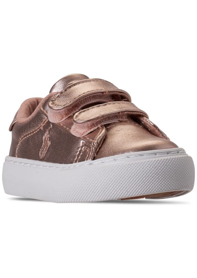 Ralph Lauren: Polo Polo Ralph Lauren Toddler Girls Easten Ez Stay-Put Closure Casual Sneakers from Finish Line