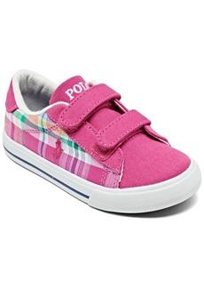 Ralph Lauren: Polo Polo Ralph Lauren Toddler Girls' Easten Ii Ez Plaid Casual Sneakers from Finish Line
