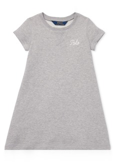 Ralph Lauren: Polo Polo Ralph Lauren Little Girls Embroidered French Terry Dress
