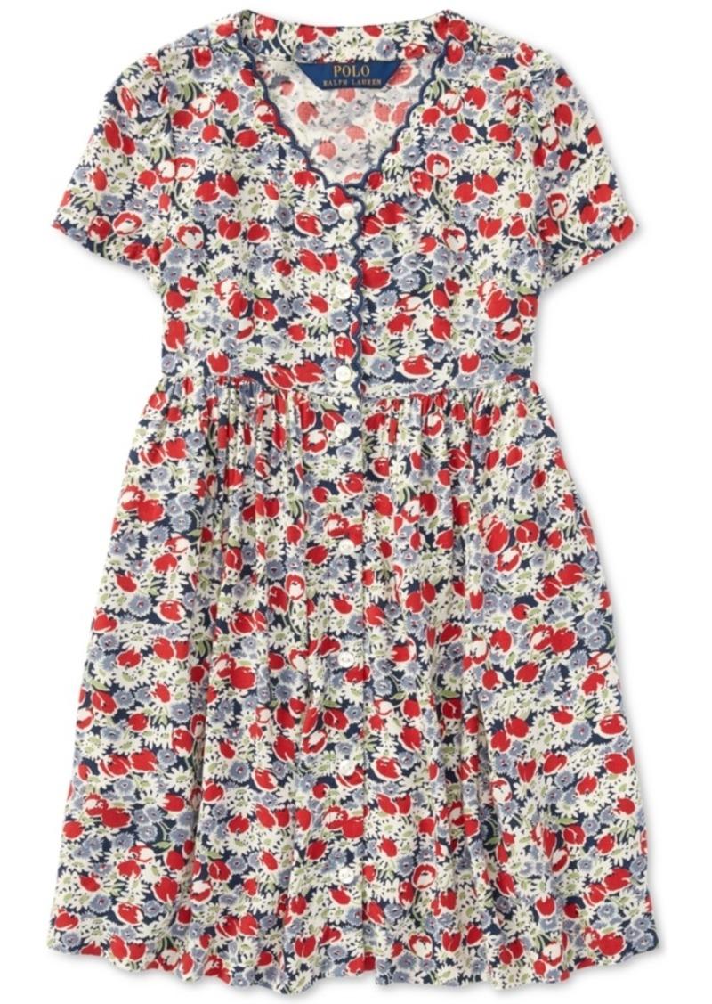 f766372f7f2af Ralph Lauren: Polo Polo Ralph Lauren Toddler Girls Floral Button-Front Dress
