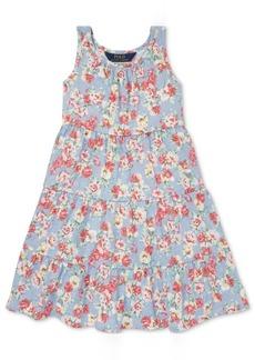 Ralph Lauren: Polo Polo Ralph Lauren Little Girls Floral Cotton Jersey Dress