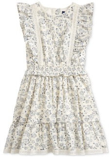 Ralph Lauren: Polo Polo Ralph Lauren Little Girls Floral Cotton Poplin Dress