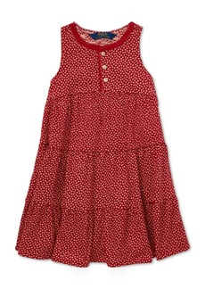 Ralph Lauren: Polo Polo Ralph Lauren Toddler Girls Floral-Print Cotton Dress