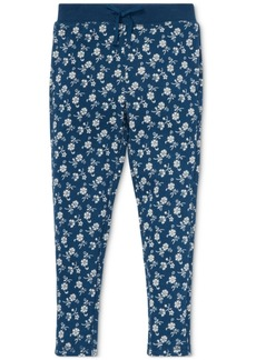 Ralph Lauren: Polo Polo Ralph Lauren Little Girls Floral-Print Cotton Terry Pants