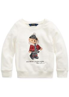 Ralph Lauren: Polo Polo Ralph Lauren Toddler Girls Holiday Bear Terry Pullover