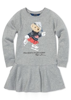 Ralph Lauren: Polo Polo Ralph Lauren Toddler Girls Ice Skating Bear Dress