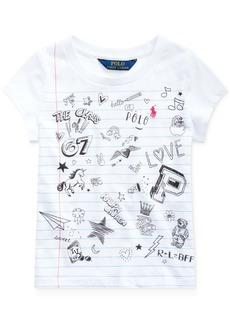 Ralph Lauren: Polo Polo Ralph Lauren Little Girls Jersey Cotton T-Shirt