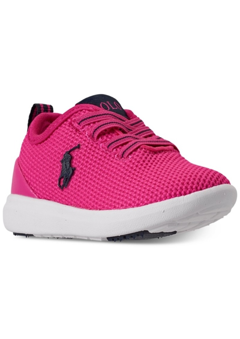 Ralph Lauren: Polo Polo Ralph Lauren Toddler Girls Kamran Stay-Put Closure Athletic Sneakers from Finish Line