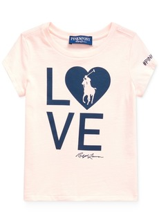Ralph Lauren: Polo Polo Ralph Lauren Toddler Girls Pink Pony Love Heart Jersey T-Shirt