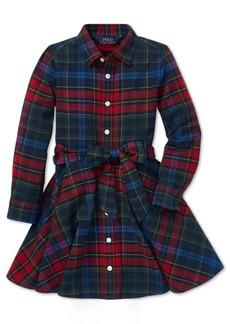 Ralph Lauren: Polo Polo Ralph Lauren Toddler Girls Plaid Cotton Shirtdress