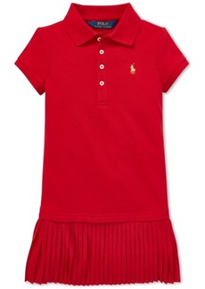 Ralph Lauren: Polo Polo Ralph Lauren Toddler Girls Pleated Polo Dress