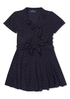 Ralph Lauren: Polo Polo Ralph Lauren Little Girls Polka-Dot Ruffled Crepe Dress