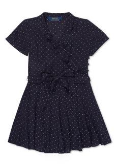 Ralph Lauren: Polo Polo Ralph Lauren Toddler Girls Polka-Dot Ruffled Crepe Dress