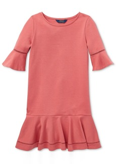 Ralph Lauren: Polo Polo Ralph Lauren Toddler Girls Ponte-Knit Dress