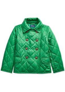 Ralph Lauren: Polo Polo Ralph Lauren Toddler Girls Quilted Double-Breasted Jacket