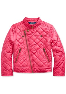Ralph Lauren: Polo Polo Ralph Lauren Toddler Girls Quilted Moto Jacket