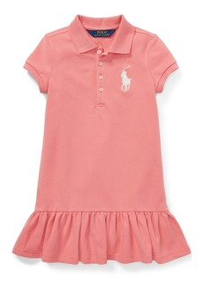 Ralph Lauren: Polo Polo Ralph Lauren Toddler Girls Short-Sleeve Big Pony Dress