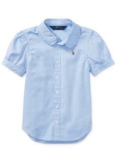 Ralph Lauren: Polo Polo Ralph Lauren Toddler Girls Solid Oxford Top