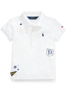 Ralph Lauren: Polo Polo Ralph Lauren Little Girls Stretch Mesh Novelty Polo Shirt