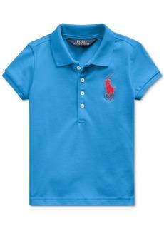 Ralph Lauren: Polo Polo Ralph Lauren Toddler Girls Stretch Mesh Polo Shirt