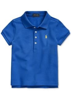 Ralph Lauren: Polo Polo Ralph Lauren Little Girls Stretch Pique Polo Shirt