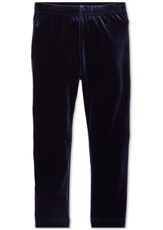 Ralph Lauren: Polo Polo Ralph Lauren Toddler Girls Stretch Velvet Leggings