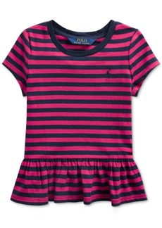 Ralph Lauren: Polo Polo Ralph Lauren Toddler Girls Stripe Cotton Shirt