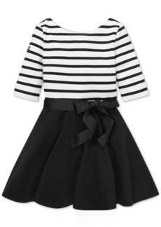Ralph Lauren: Polo Polo Ralph Lauren Toddler Girls Striped Jersey-Ponte Dress