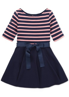 Ralph Lauren: Polo Polo Ralph Lauren Toddler Girls Striped Jersey-Ponte Knit Dress