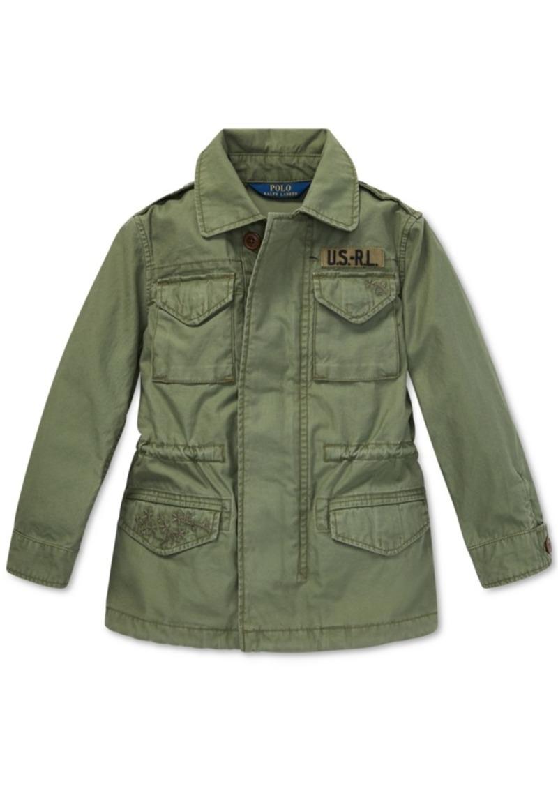 Girls Polo Military Lauren Little Cotton Jacket Ralph Twill Inspired N0wm8n