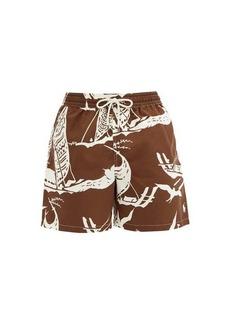 Ralph Lauren Polo Polo Ralph Lauren Traveler Kon Tiki-print swimshorts