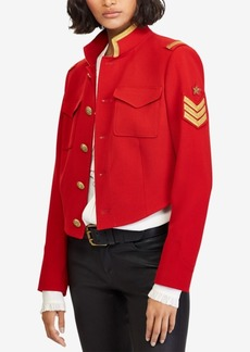 Ralph Lauren: Polo Polo Ralph Lauren Twill Cropped Military-Inspired Jacket