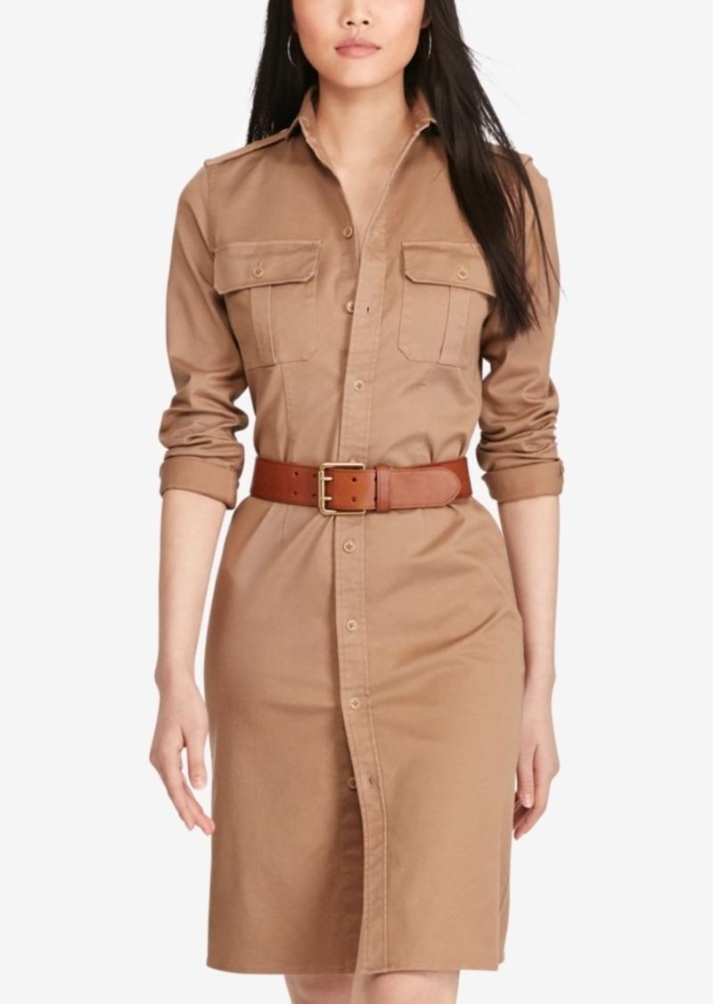 Ralph Lauren: Polo Polo Ralph Lauren Twill Military-Look Shirtdress