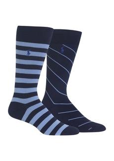 Ralph Lauren Polo Polo Ralph Lauren Two-Pack Stripe Crew Socks