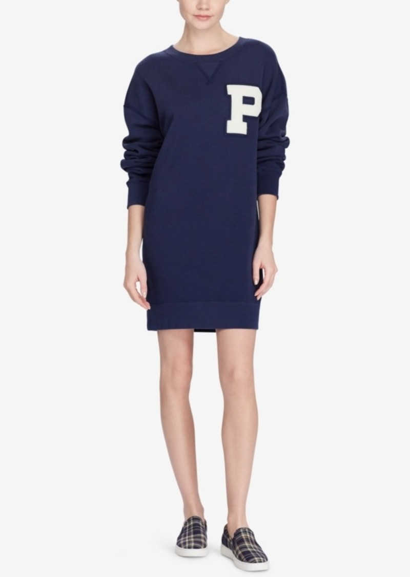aaa6fe8e8e1 Ralph Lauren  Polo Polo Ralph Lauren Varsity Sweatshirt Dress