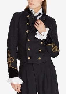 Ralph Lauren: Polo Polo Ralph Lauren Velvet-Trim Military-Inspired Jacket