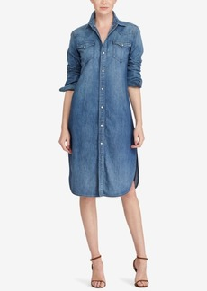 Ralph Lauren: Polo Polo Ralph Lauren Western Denim Cotton Shirtdress
