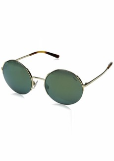 Ralph Lauren: Polo Polo Ralph Lauren Women's PH3120 Round Metal Sunglasses  55 mm