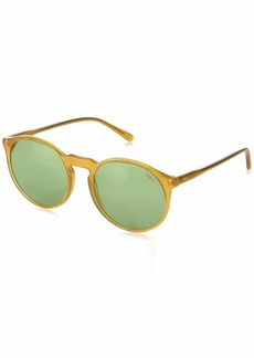 Ralph Lauren: Polo Polo Ralph Lauren Women's 0ph4129 0PH4129 Round Sunglasses honey 53.0 mm