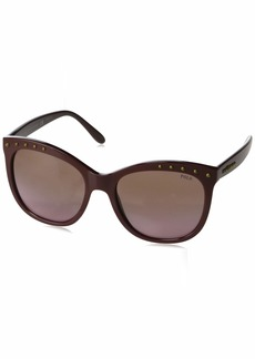 Ralph Lauren: Polo Polo Ralph Lauren Women's 0ph4140 Square Sunglasses burgundy 55.0 mm