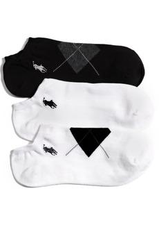 Ralph Lauren: Polo Polo Ralph Lauren Women's Argyle Cotton 3 Pack Socks