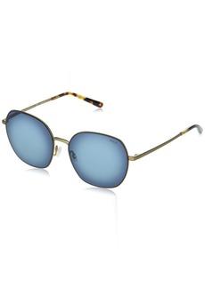 Ralph Lauren: Polo Polo Ralph Lauren Women's PH3124 Butterfly Sunglasses Semi-Shiny Bronze/Blue Gradient
