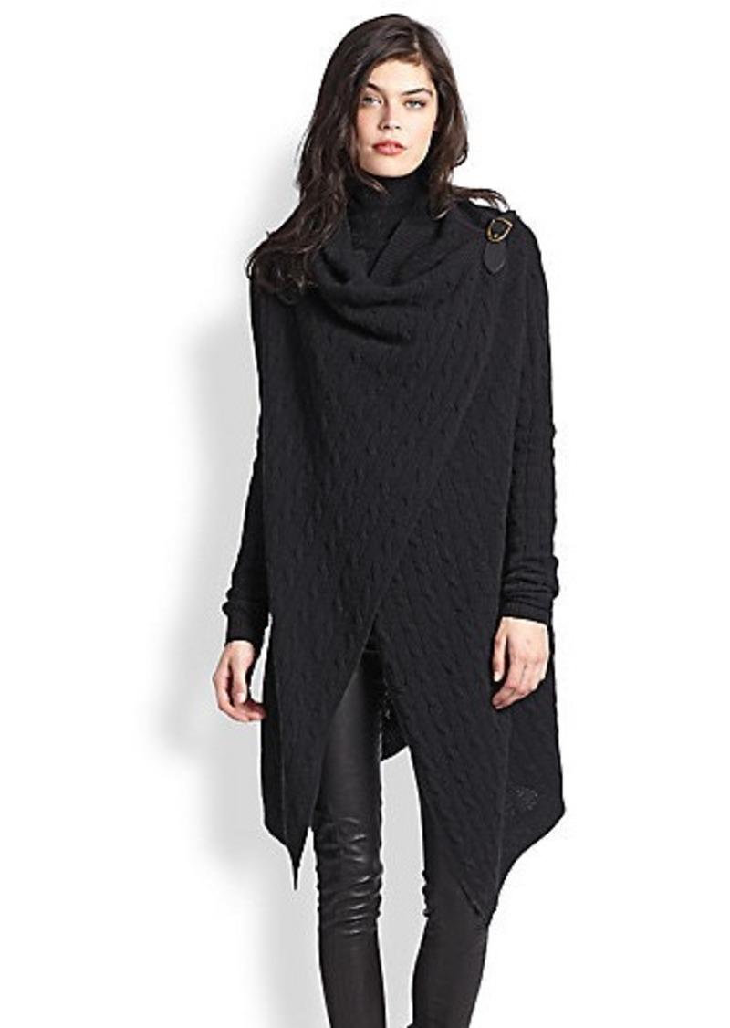 ralph lauren polo polo ralph lauren wool cashmere wrap sweater sweaters shop it to me. Black Bedroom Furniture Sets. Home Design Ideas