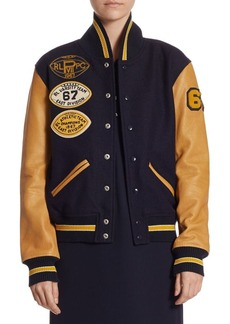 Ralph Lauren: Polo Polo Ralph Lauren Wool Varsity Bomber Jacket