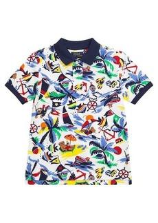 Ralph Lauren: Polo Printed cotton piqué polo shirt