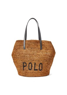 Ralph Lauren Polo Raffia Large Tote Bag