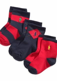 Ralph Lauren: Polo Ralph Lauren Baby Boys Argyle Crew Socks 3-Pack