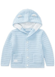 Ralph Lauren: Polo Ralph Lauren Baby Boys Bear-Hood Cotton Cardigan