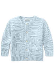 Ralph Lauren: Polo Ralph Lauren Baby Boys Contrast-Knit Cotton Cardigan