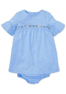 Ralph Lauren: Polo Ralph Lauren Baby Girls Cotton Ruffle-Sleeve Dress